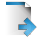 128x128px size png icon of document arrow right