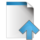 128x128px size png icon of document arrow up