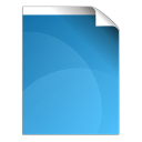 128x128px size png icon of document blue
