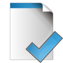 128x128px size png icon of document check