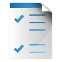 128x128px size png icon of document checkbox