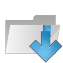 128x128px size png icon of folder arrow down