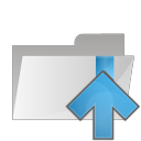 128x128px size png icon of folder arrow up