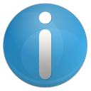 128x128px size png icon of information