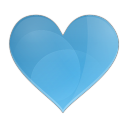 128x128px size png icon of love heart