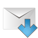128x128px size png icon of mail arrow down