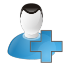 128x128px size png icon of user add