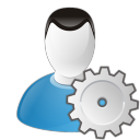 128x128px size png icon of user settings