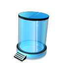 128x128px size png icon of Recycle Bin empty