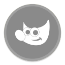 128x128px size png icon of Gimp
