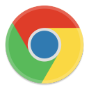 128x128px size png icon of Google Chrome
