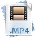 128x128px size png icon of Filetype mp 4