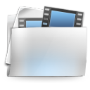 128x128px size png icon of Folder my video