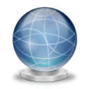 128x128px size png icon of Network globe offline