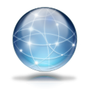 128x128px size png icon of Network globe