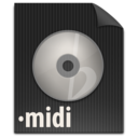 128x128px size png icon of zFileMIDI