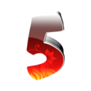 128x128px size png icon of 5