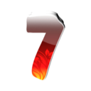 128x128px size png icon of 7