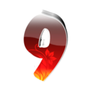 128x128px size png icon of 9