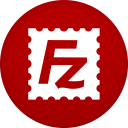 128x128px size png icon of filezilla