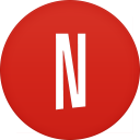 128x128px size png icon of netflix
