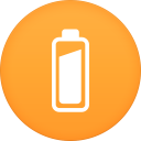 128x128px size png icon of battery