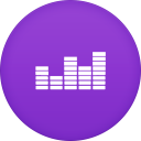 128x128px size png icon of deezer 2