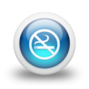 128x128px size png icon of Glossy 3d blue non smoking