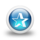 128x128px size png icon of Glossy 3d blue orbs2 039