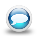 128x128px size png icon of Glossy 3d blue orbs2 041