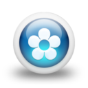 128x128px size png icon of Glossy 3d blue orbs2 062