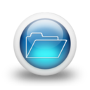 128x128px size png icon of Glossy 3d blue orbs2 063