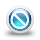 128x128px size png icon of Glossy 3d blue orbs2 079