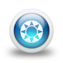 128x128px size png icon of Glossy 3d blue orbs2 097