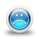 128x128px size png icon of Glossy 3d blue orbs2 098