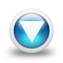 128x128px size png icon of Glossy 3d blue orbs2 118
