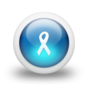 128x128px size png icon of Glossy 3d blue ribbon