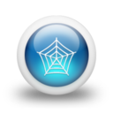 128x128px size png icon of Glossy 3d blue web