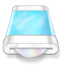 128x128px size png icon of drive blue disk