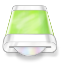 128x128px size png icon of drive green disk