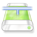 128x128px size png icon of drive green network