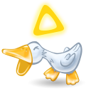 128x128px size png icon of duck quack