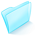 128x128px size png icon of folder blue normal