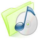 128x128px size png icon of folder green music