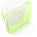 128x128px size png icon of folder green paper