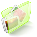 folder green pictures Icon