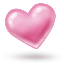 128x128px size png icon of heart 2