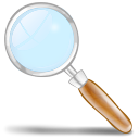 128x128px size png icon of loupe
