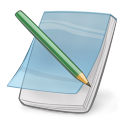 128x128px size png icon of note edit