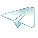 128x128px size png icon of paper plane